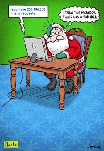 santa-facebook