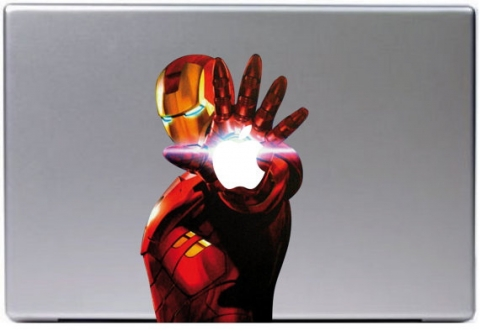small_iron man macbook decal
