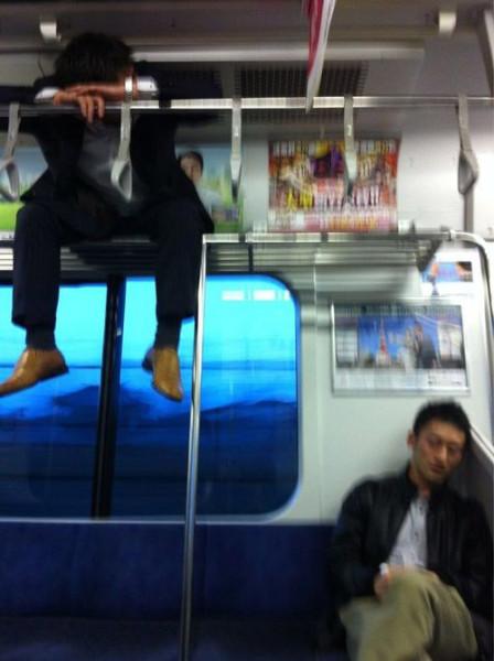 Sleeping-in-the-subway