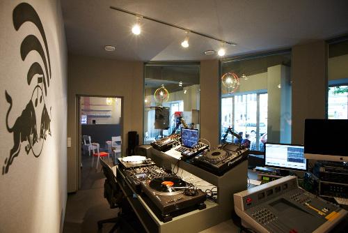 Impressions of the RBMA Radio Studio Space in Berlin Kreuzberg
