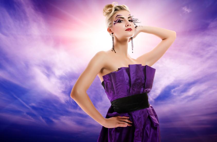 Beautiful woman glamour potrait