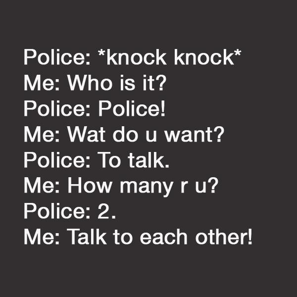 policeknocks