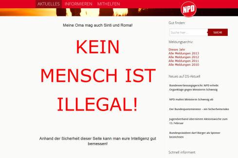 NPD-Mensch-illegal