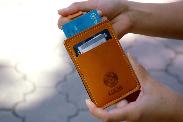 Wallet mini brown