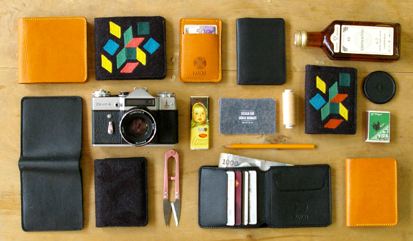 wallets organized neatly