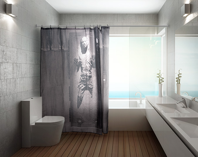 1bfb_han_solo_carbonite_shower_curtain_inuse