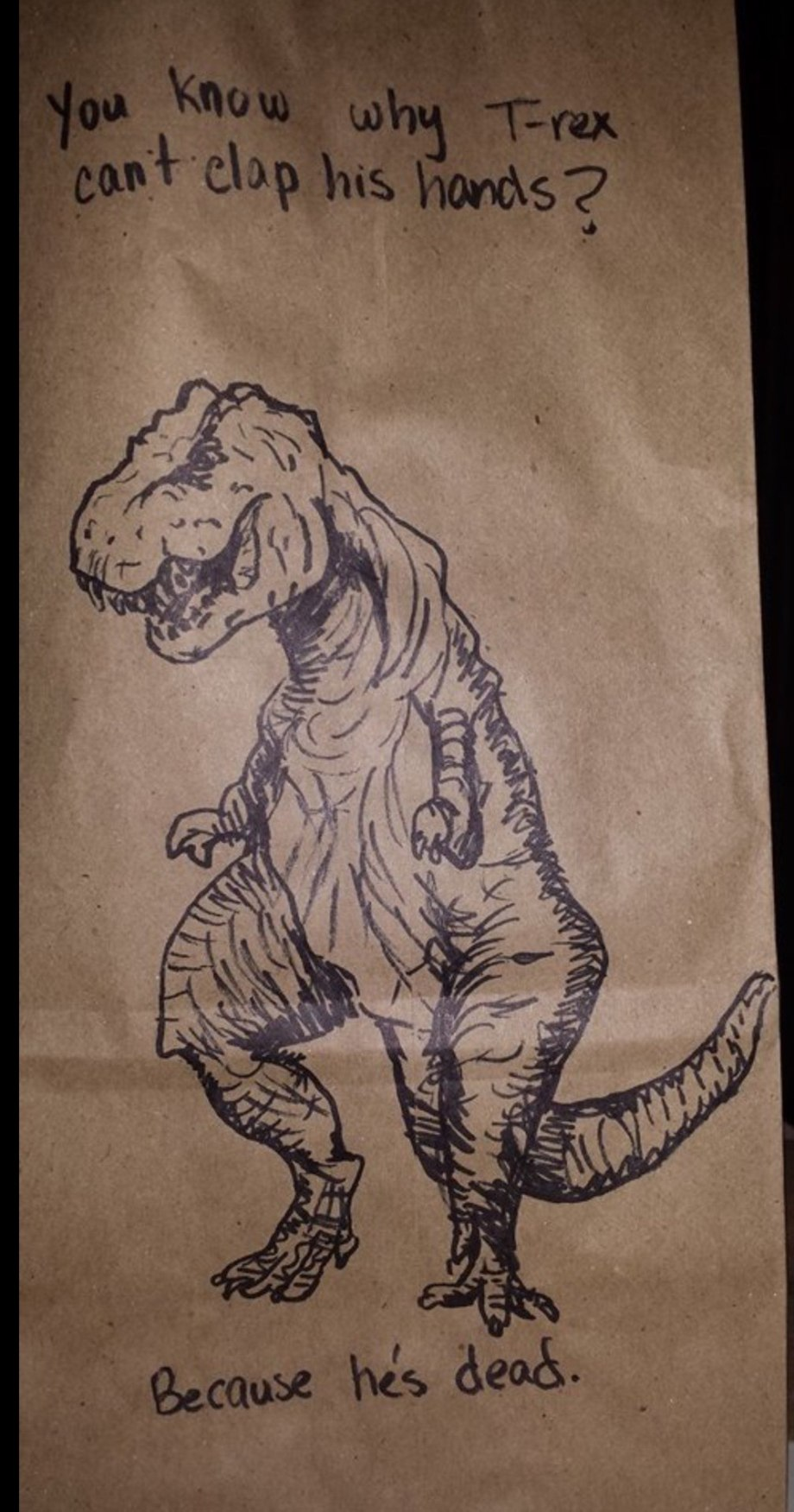 you-know-why-t-rex-cant-clap-his-hands