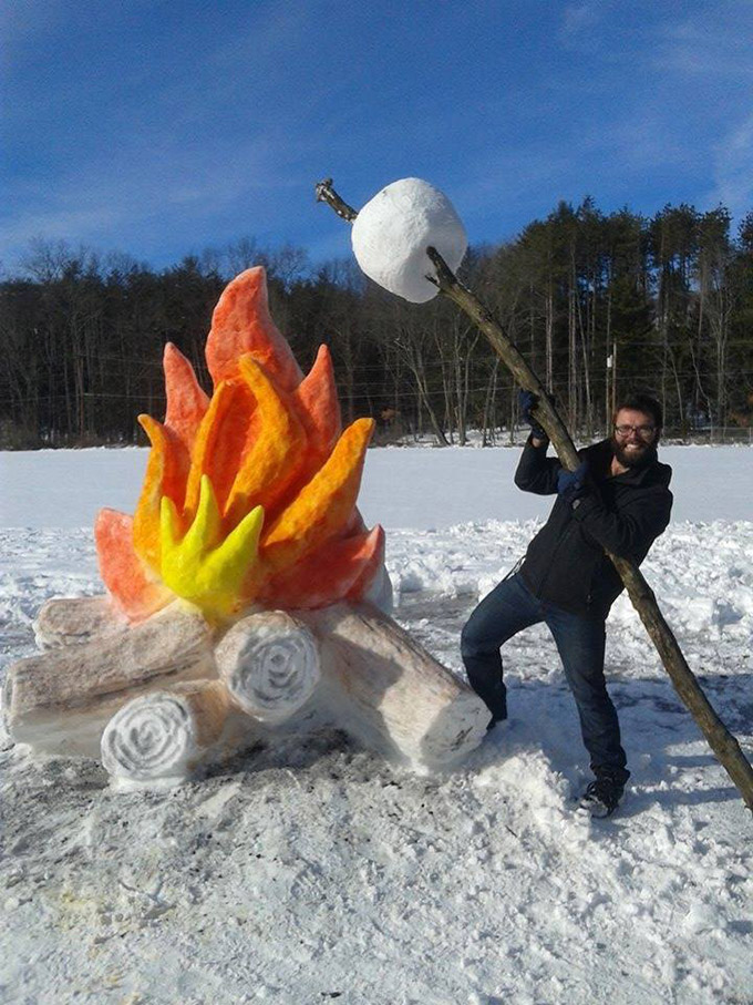 Campfire-in-the-Snow