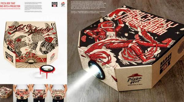 Pizzabox-Projektor