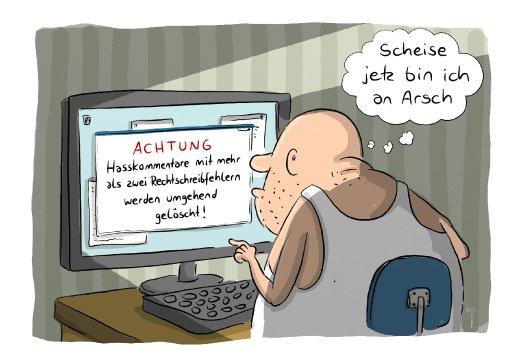 Cartoon/ Mario Lars/ Hasskommentare