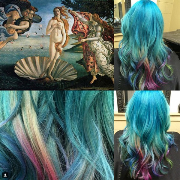 She-Colors-Hair-to-Match-famous-works-of-art-1
