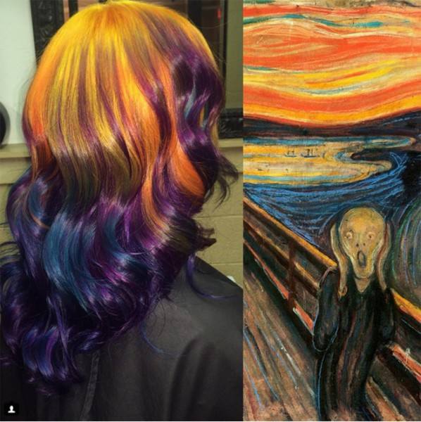 She-Colors-Hair-to-Match-famous-works-of-art-2