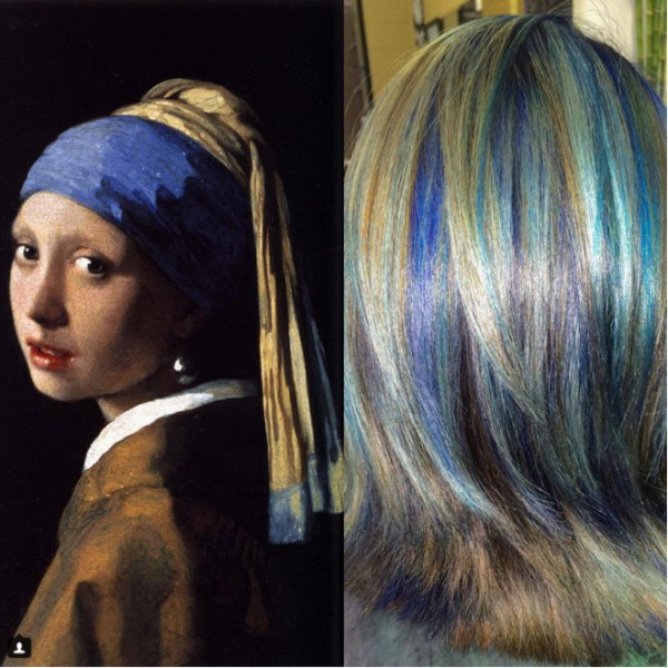 She-Colors-Hair-to-Match-famous-works-of-art-3
