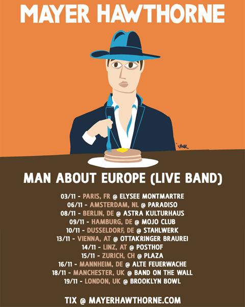 Mayer FB Post Man About Europe Live Tour Nov