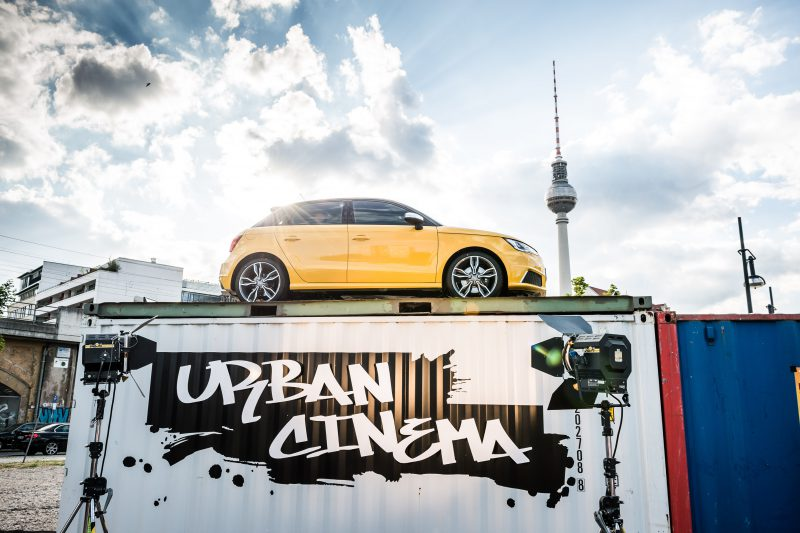 AUDI URBAN CINEMA OPENING am 04.06.2014 Berlin Alexanderplatz