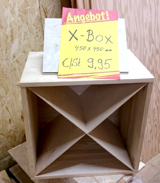Schild/ X-Box