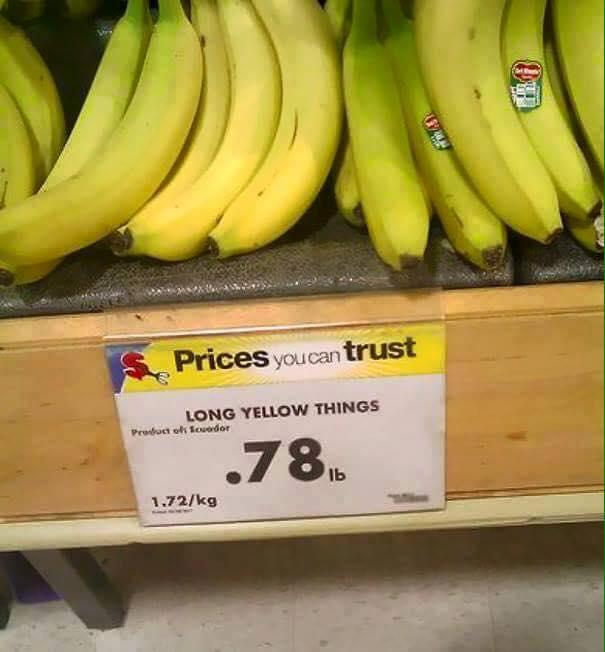 die gelben langen Dinger eben!
