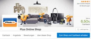 Beispiel für das Cashback-System von Shoop.de, mit dem blauen Button kommt ihr direkt zum jeweiligen Shop